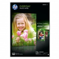 HP Everyday Glossy Photo Paper, foto papír, lesklý, bílý, A4, 200 g/m2, 100 ks, Q2510A, inkoustový,ke každodennímu použití
