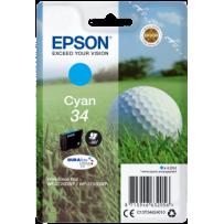 Epson originální ink C13T34624010, T346240, cyan, 4.2ml, Epson WF-3720DWF, 3725DWF