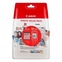 Canon originální ink CLI-581 XL CMYK Multi Pack, CMYK, blistr, 4*8,3ml, 2052C004, very high capacity, Canon PIXMA TS6150,TS61...