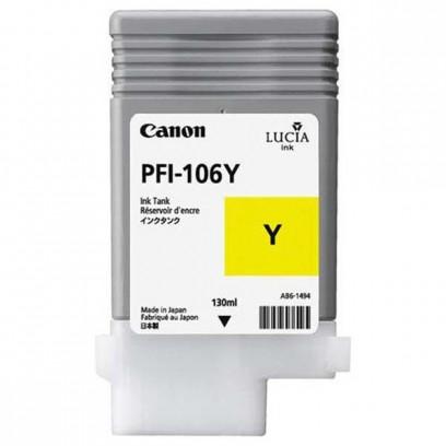 Canon originální ink PFI106Y, yellow, 130ml, 6624B001, Canon iPF-6300