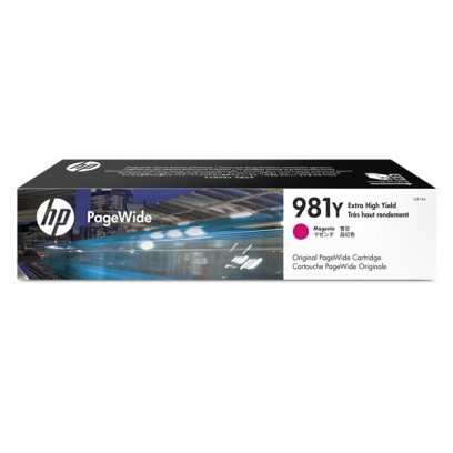HP originální ink L0R14A, HP 981Y, magenta, 16000str., 185ml, extra high capacity, HP PageWide MFP E58650, 556, Flow 586