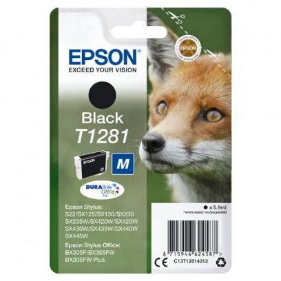 Epson originální ink C13T12814022, T1281, black, 5,9ml, Epson Stylus S22, SX125, 420W, 425W, Stylus Office BX305
