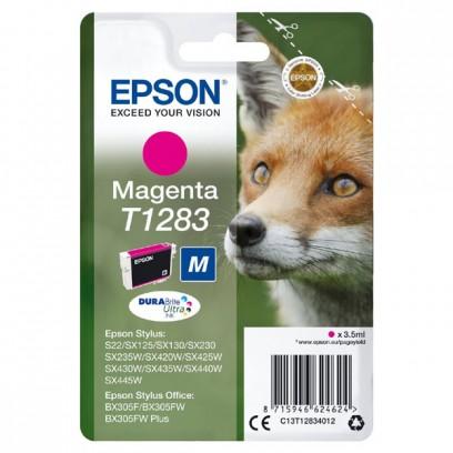 Epson originální ink C13T12834022, T1283, magenta, blistr, 3,5ml, Epson Stylus S22, SX125, 420W, 425W, Stylus Office BX305