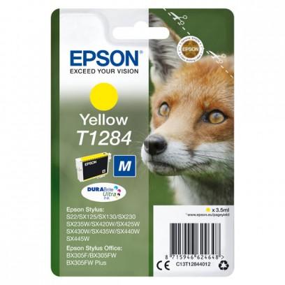 Epson originální ink C13T12844022, T1284, yellow, blistr, 3,5ml, Epson Stylus S22, SX125, 420W, 425W, Stylus Office BX305
