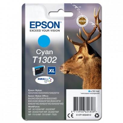 Epson originální ink C13T13024012, T1302, cyan, 765str., 10,1ml, Epson Stylus Office BX320FW