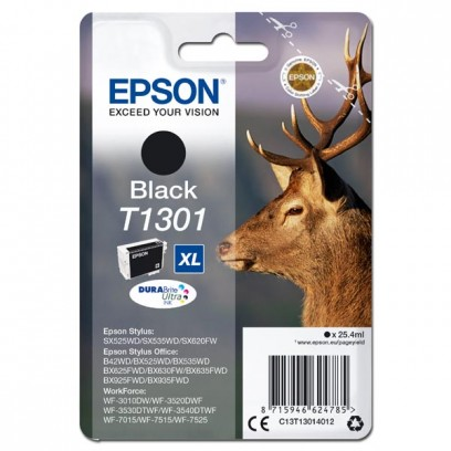 Epson originální ink C13T13014012, T1301, black, 945str., 25,4ml, Epson Stylus Office BX625FWD