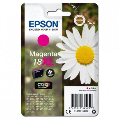 Epson originální ink C13T18134012, T181340, 18XL, magenta, 6,6ml, Epson Expression Home XP-102, XP-402, XP-405, XP-302
