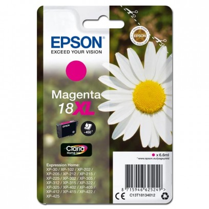 Epson originální ink C13T18134022, T181340, 18XL, magenta, 6,6ml, Epson Expression Home XP-102, XP-402, XP-405, XP-302