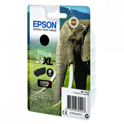 Epson originální ink C13T24314012, T2431, 24XL, black, 10ml, Epson