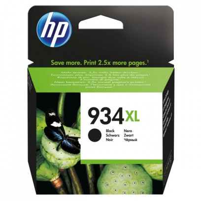 HP originální ink C2P23AE, HP 934XL, black, blistr, 1000str., 25,5ml, HP Officejet 6812,6815,Officejet Pro 6230,6830,6835