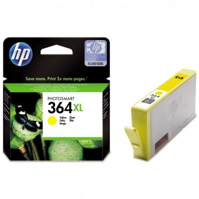 HP 364XL, HP CB325EE, žlutá, 6ml