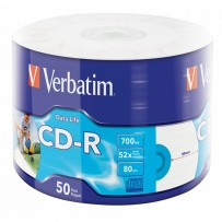 Verbatim CD-R, 43794, Inkjet Printable, 50-pack, 700MB, 50x, 12cm, spindle, pro archivaci dat