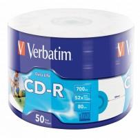 Verbatim CD-R, 43794, Inkjet Printable, 50-pack, 700MB, 50x, 12cm, spindle, pro archivaci dat