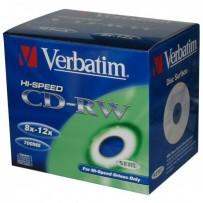 Verbatim CD-RW, 43148, DataLife PLUS, 10-pack, 700MB, Serl, 8-12x, 80min., 12cm, Scratch Resistant, bez možnosti potisku, jew...
