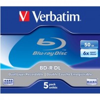 Verbatim BD-R, Dual Layer 50GB, jewel box, 43748, 6x, 5-pack, pro archivaci dat