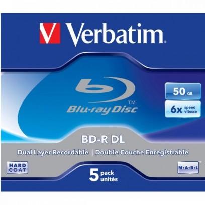 Verbatim BD-R, Dual Layer 50GB, jewel box, 43748, 6x, 5-pack, pro archivaci dat