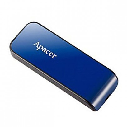 Apacer USB flash disk, 2.0, 32GB, AH334, modrý, AP32GAH334U-1, s výsuvným konektorem