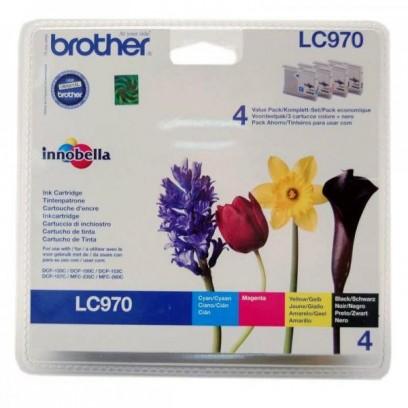 Zvýhodněná sada Brother LC-970 černá + modrá + červená + žlutá