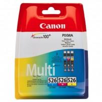 Sada Canon CLI-526 multipack modrá + červená + žlutá