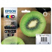 Sada Epson 202XL černá + foto černá + modrá + červená + žlutá