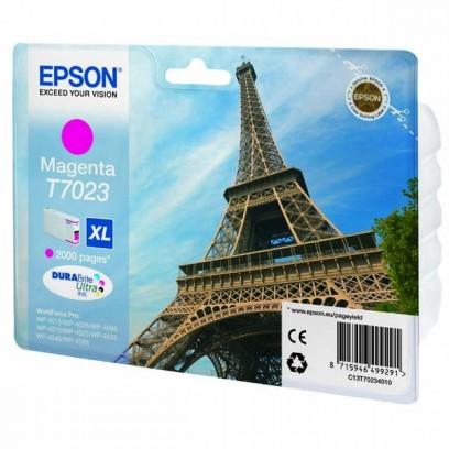 Epson originální ink C13T70234010, XL, magenta, 2000str., Epson WorkForce Pro WP4000, 4500 series