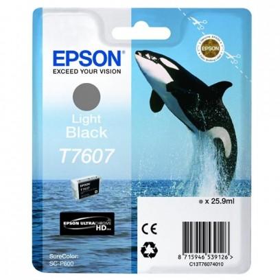Epson originální ink C13T76074010, T7607, light black, 25,9ml, 1ks, Epson SureColor SC-P600
