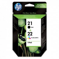 HP originální ink SD367AE, HP 21 + HP 22, black/color, 190/165str., 2ks, HP 2-Pack, C9351AE + C9352AE