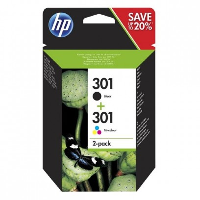 Sada HP 301 černá + barevná, 3ml + 3ml