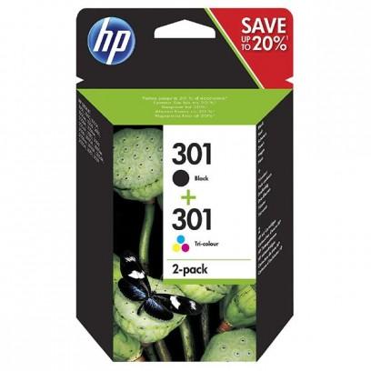 HP originální ink N9J72AE, black/color, blistr, 190/165str., HP 301, HP Deskjet 1510, 3055A, Officejet 2622