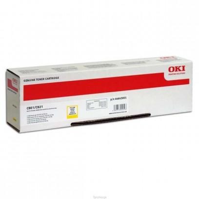 OKI originální toner 44643001, yellow, 7000str., OKI C801, C821