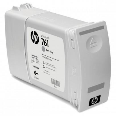 HP originální ink CM996A, dark grey, 400ml, HP 761, HP DesignJet T7100