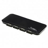 USB (2.0) hub 7-port, 039, černá