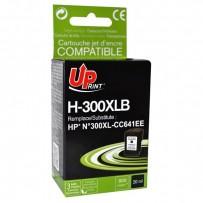 Kompatibilní HP 300XL, HP CC641EE černá, 19ml