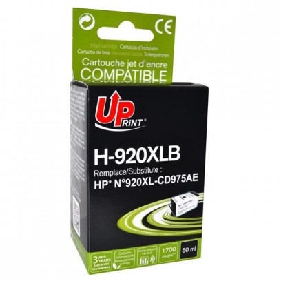 UPrint kompatibilní ink s CD975AE, HP 920XL, black, 50ml, H-920XLB, pro HP Officejet