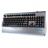 E-BLUE Klávesnice EKM752, herní, šedá, drátová (USB), US, mechanická, podsvícená