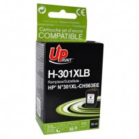 UPrint kompatibilní ink s CH563EE, HP 301XL, black, 520str., 20ml, H-301XLB, pro HP HP Deskjet 1000, 1050, 2050, 3000, 3050, ...