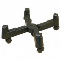 Držák PC na zem, nastavitelná šířka, černý, plast, šířka 3 - 25,5 cm, černá, PC