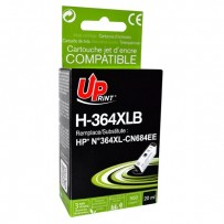 UPrint kompatibilní ink s CN684EE, HP 364XL, black, 20ml, H-364XLB, pro HP Photosmart e-All-in-One, Premium, Plus, C5380, s č...