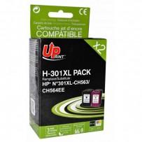 Sada kompatibilní HP 301XL, černá + barevná, 14ml + 18ml