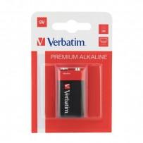 Baterie alkalická, R61, 9V, Verbatim, blistr, 1-pack, 49924