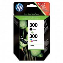 HP originální ink CN637EE, HP 300, black/color, blistr, 2 x 200str., 2x4ml, HP 2-pack, CC640EE a CC643EE, DeskJet D2560, F4280