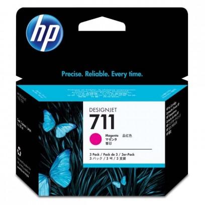 HP 711 červená - 3ks