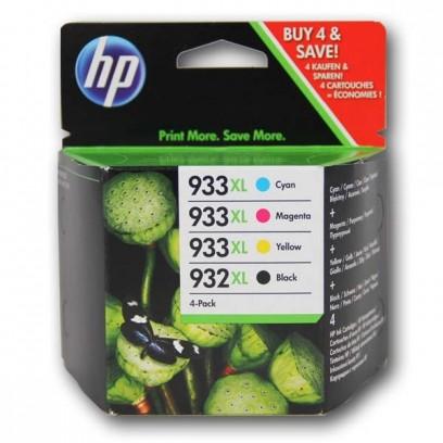 Sada HP 932XL + HP 933XL, černá + modrá+ červená + žlutá