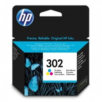 HP originalní ink F6U65AE, HP 302, color, 165/165/165str., 4ml, HP OJ 3830,3834,4650, DJ 2130,3630,1010, Envy 4520
