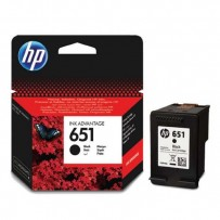 HP originální ink C2P10AE, HP 651, black, 600str., HP DeskJet IA 5645, 5575, Officejet 202, 252 Mobile