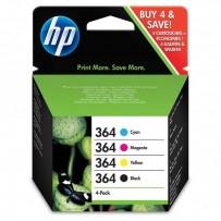 Sada HP 364 černá + modrá + červená + žlutá