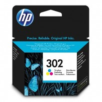 HP originální ink F6U65AE, HP 302, color, blistr, 165/165/165str., 4ml, HP OJ 3830,3834,4650, DJ 2130,3630,1010, Envy 4520