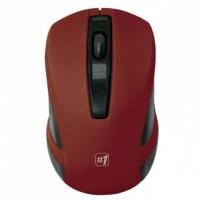 Defender Myš MM-605, 1200DPI, 2.4 [GHz], optická, 3tl., 1 kolečko, bezdrátová, červená, 2 ks AAA, nanopřijímač
