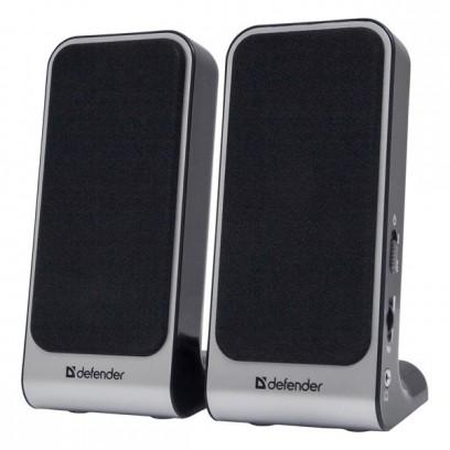 Defender reproduktory SPK-225, 2.0, 4W, šedé, regulace hlasitosti, magneticky stíněné pouzdro, konektor pro sluchátka, 200Hz~...