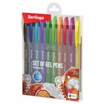 Berlingo, sada rollerů gelových, color, 10ks, 0.5mm, Triangle gel